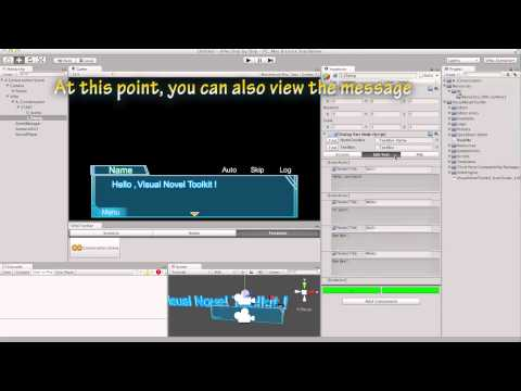 Unity Visual Novel Toolkit Tutorial01 Create a Conversation Scene