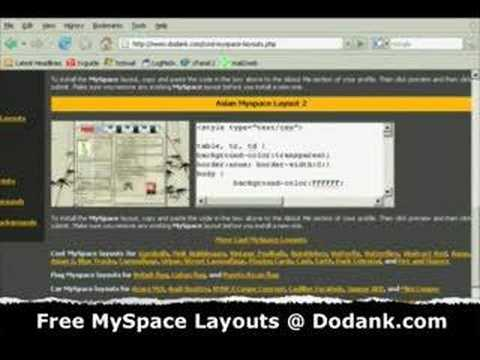 free myspace layouts Video