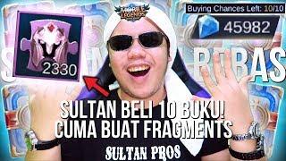 SULTAN BUKA 10 BUKU SKIN SEKALIGUS DEMI FRAGMENT!?!? - Mobile Legends Indonesia #78