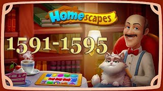 HomeScapes level 1591, 1592, 1593, 1594, 1595