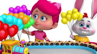 Learn Colors with Train Balloon Song - Learn Colors with Betty and Bunny Train