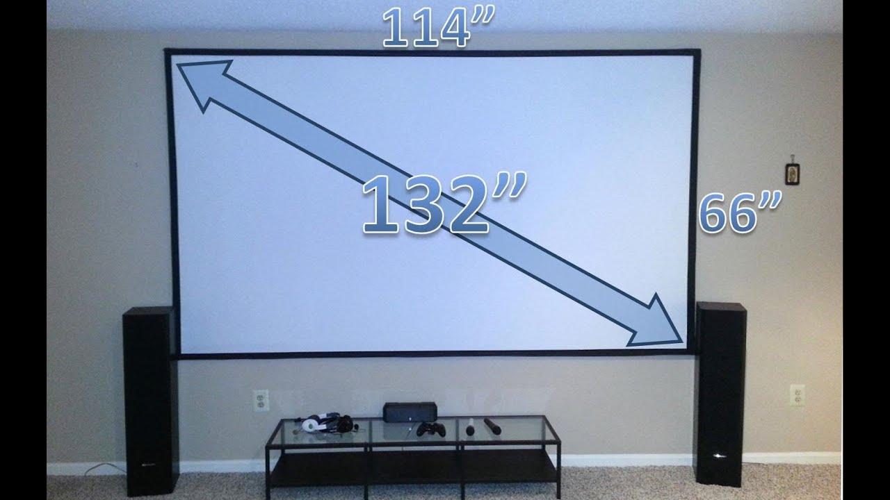 Изогнутый экран для проектора своими руками