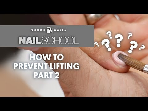 YN NAIL SCHOOL - HOW TO PREVENT LIFTING PART 2
