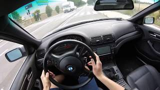 2003 BMW 3 Series E46 318i 143 HP POV Driving Onboard GoPro HERO+