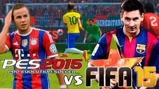 FIFA 15 vs PES 15 // Todays music will not exist in the future.