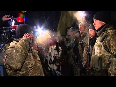 Ukrainian Soldiers Warm Welcome: Troops come home after months of guarding checkpoints