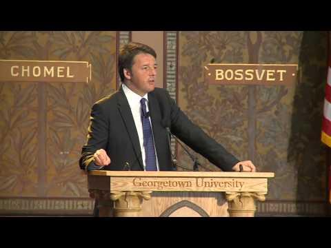 Intervento del Presidente del Consiglio Matteo Renzi presso la Georgetown University