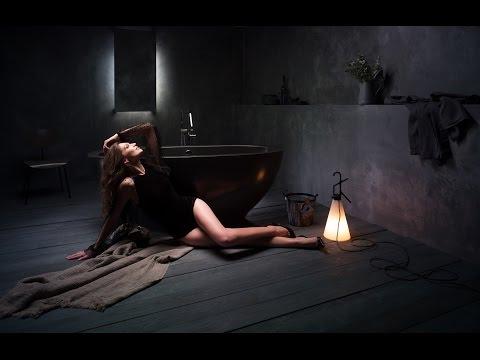 Karolina by Aquatica Graphite Black Freestanding Stone Bathtub