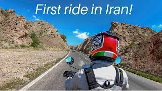 FIRST RIDE IN IRAN - Royal Enfield Himalayan BS4 (2018) - to Rayen