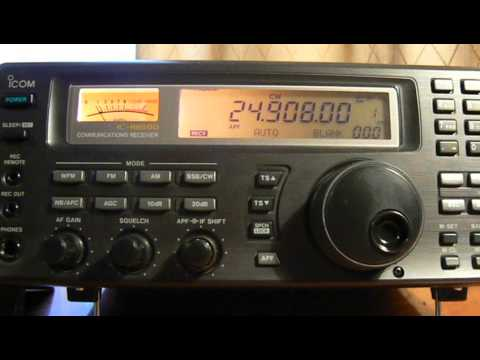 24908khz,Ham Radio,CX2DK(Montevideo,Uruguay) 12-35UTC.