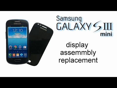 Samsung Galaxy S3 / SIII mini i8190 - Display Assemblay Replacement. Touch screen & LCD Display