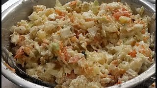 Salada de repolho com batata