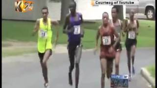 Kipruto attempts to slap Ethiopian Athlete Mekonen in US road race
