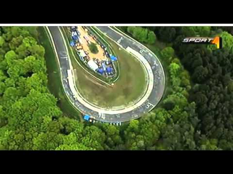 Michael Schumacher driving a Mercedes F1 on the Nürburgring