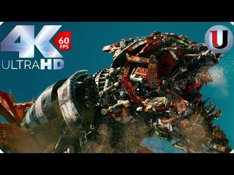 Transformers 2 Revenge Of The Fallen Desert Battle Devastator Death Scene Movie Clip (4K)