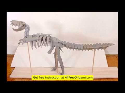 Easy t Rex Origami a Origami Dinosaur T-rex