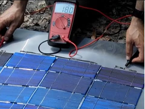 0 less than $1 a watt  DIY Solar Panel Part 2 Make your own solar panel series connection Bus Wire
