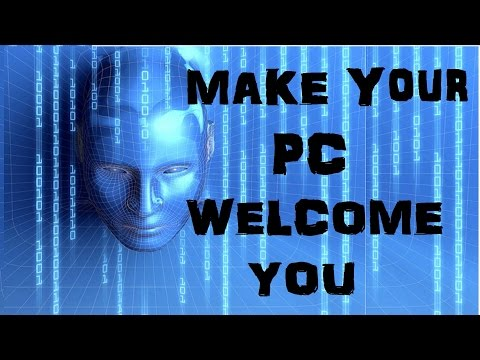 How to Make Your Computer Welcome You in Computerized Voice Windows 10/8/7 (NO any Software 2016)