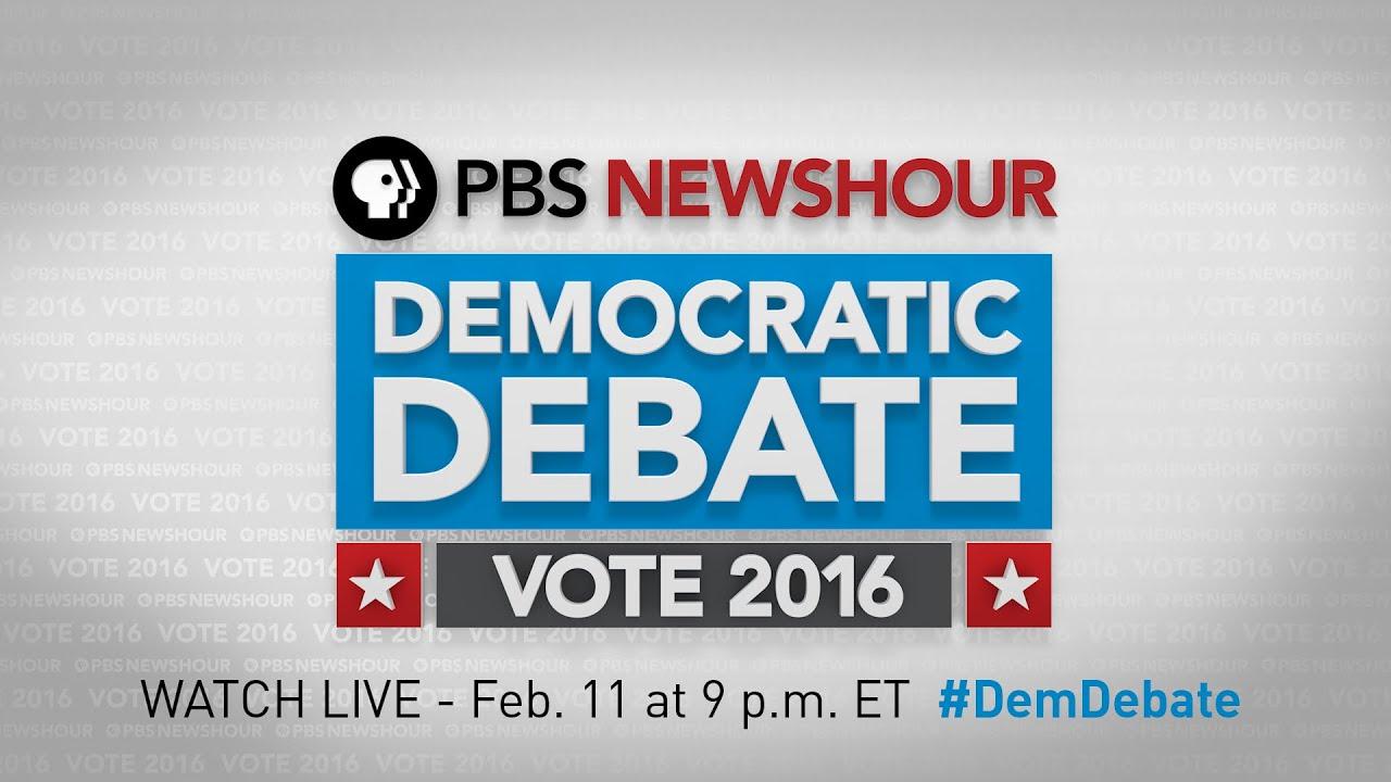 Watch the PBS NewsHour Democratic Debate