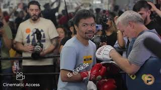 Cinematic Access: Manny Pacquiao's Media Day #PacquaioThurman