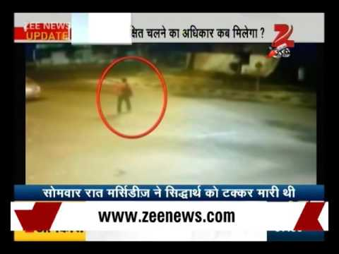 Watch: CCTV footage of Delhi Mercedes hit-and-run accident