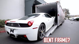 My WRECKED Ferrari 458 Goes to the Frame Shop...