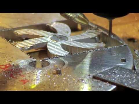 Homemade DIY CNC, Finished 3D CNC propeller milling