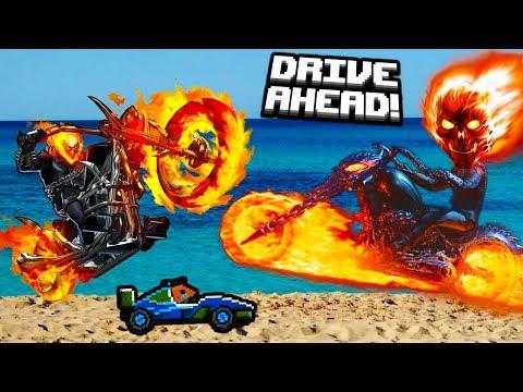 ОГРОМНЫЙ ОГНЕННЫЙ СКЕЛЕТ игра как мультики про машинки видео для детей битва тачки гонки Drive AHEAD