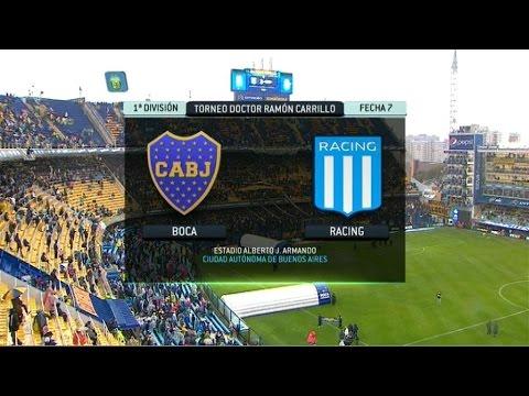 Fútbol en vivo. Boca - Racing Fecha 7. Torneo Primera División 2014. FPT.