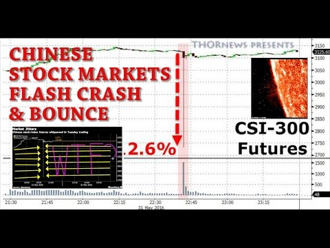 Chinese Stock Markets flash crash, break & bounce back in 1 minute. WTF?