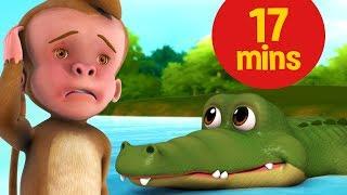 The Monkey and the Crocodile Hindi Kahaniya and much more | Hindi Stories for Kids | Infobells