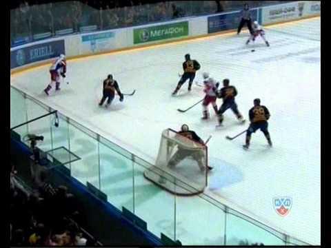 КХЛ.Плей-офф.Атлант-Локомотив. 3-0 Барулин.wmv