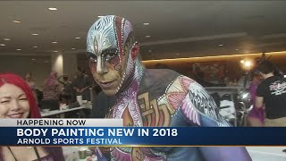 Body painting new at The Arnold in 2018