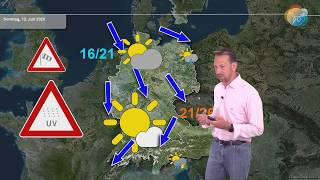 Play this video Wetterprognose. 7 Tages-Wetter Juli  September, gefГhlt mal fast 40 Grad, dann Bodenfrostgefahr!