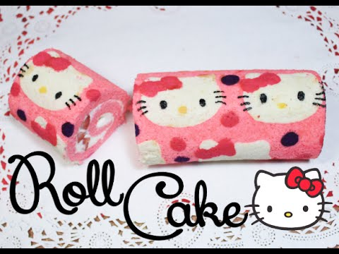➭ ¿como Hacer Un Roll Cake? ♥︎ Roll Cake De Hello Kitty ♡ Miranda Ibañez video