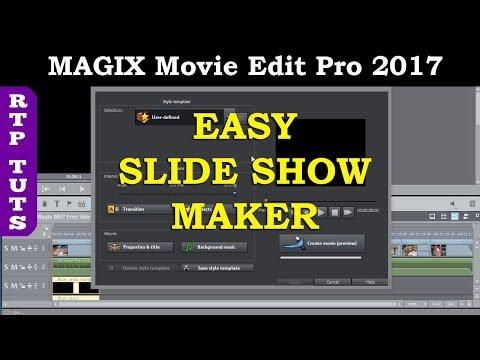 Magix Video SlideShow Maker Tutorial. Add Music, Captions, Titles in Magix Movie Edit Pro 2017 Plus