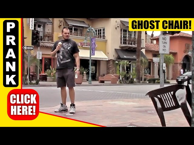 GHOST CHAIR PRANK - FLOATING CHAIR