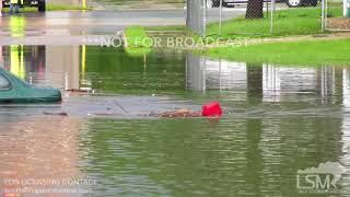 6-9-2018 Mason City, Iowa - Flooding & Cars Under Water