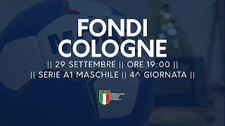 Serie A1M [4^ giornata]: Fondi - Cologne 31-24