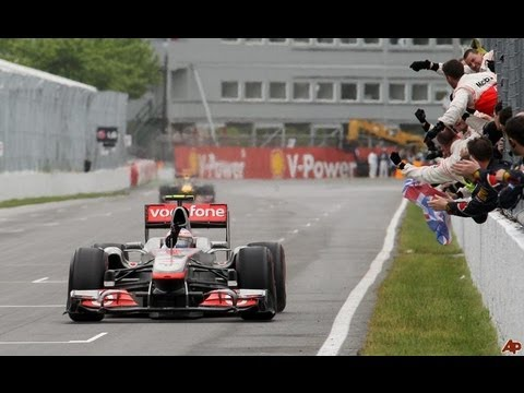 Jenson Button wins in Canada 2011