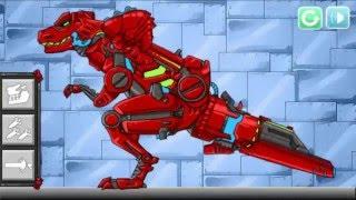 Robot Khủng Long Đỏ - Ghép hình, Video game ghép hình Khủng Long