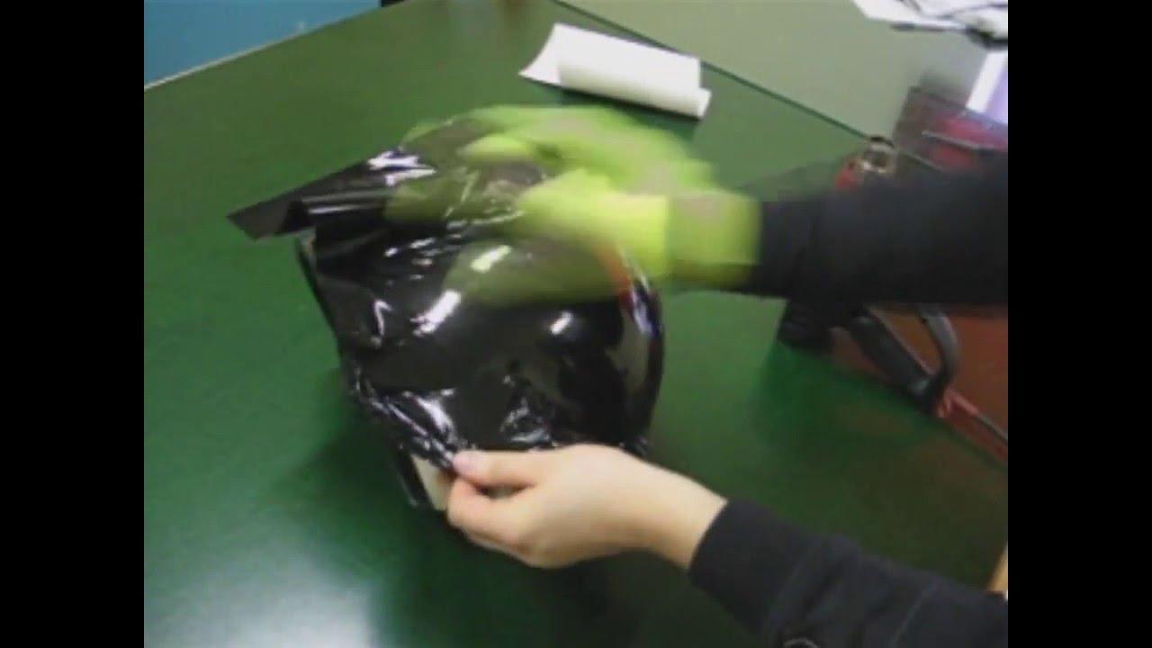 How To Wrap A Helmet Youtube