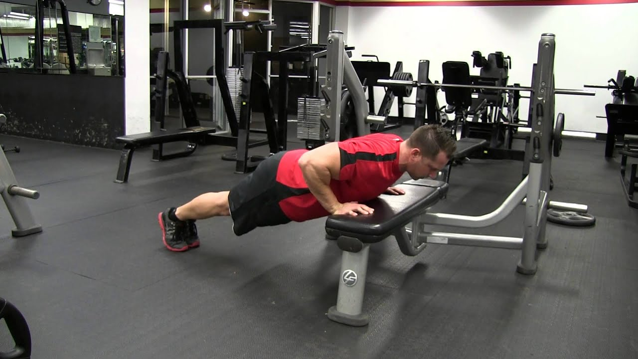 Push Your Hands up Hands Elevated Plyometric Push