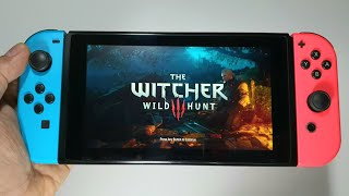 The Witcher 3: Wild Hunt — Complete Edition Nintendo Switch handheld gameplay