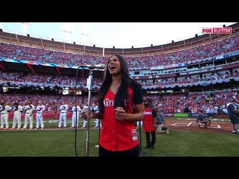 2015 ASG: Ciara sings the national anthem