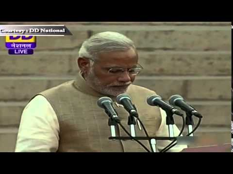 Shri Narendra Modi sworn-in as the 15th Prime Minister of India