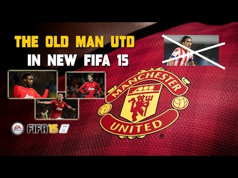 Mistake in FIFA 15 - Old Manchester United in the new game