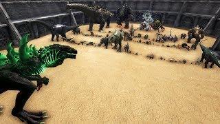 Godzillark vs All Creatures in ARK || Cantex