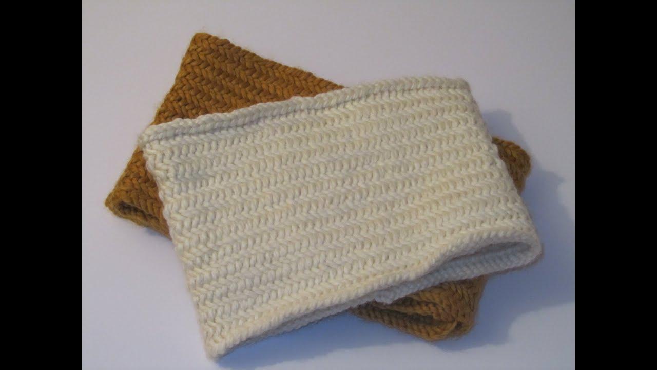 Knitting Herringbone Stitch In The Round : Tutorial: Herringbone Stitch in the Round - YouTube