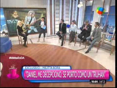 Militta Bora: Osvaldo me dejó por Whatsapp